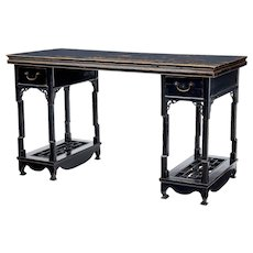 19th century Chinese black lacquer alter table