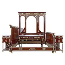 Impressive 19th Century french empire revival 5 piece bedroom suite