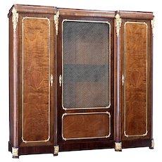 19th century French empire influenced mahogany cabinet