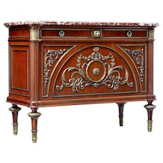 1960's Louis XVI influenced marble top commode