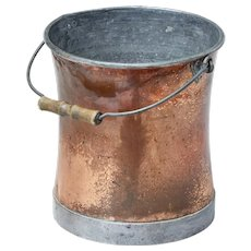 Early 20th century copper Pail
