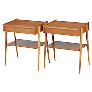 Pair of 1960's Scandinavian teak bedside tables