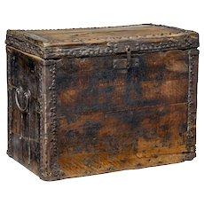 18th century Chinese hard wood coffer