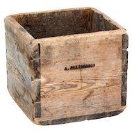19th century Swedish pine storage box
