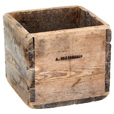19th century Swedish pine storage box