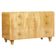 Mid 20th century shaped elm chest of drawers