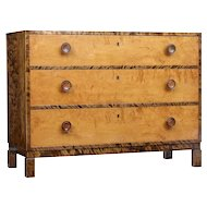 Mid 20th century Scandinavian birch chest of drawers