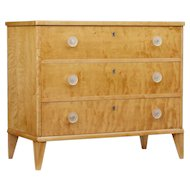 Mid 20th century birch chest of drawers