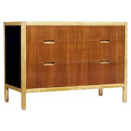 Mid 20th century Scandinavian teak and birch chest of drawers