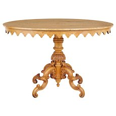 19th Century birch oval occasional table