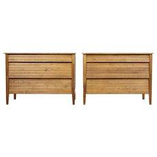 Pair of 1950's Scandinavian teak chest of drawers