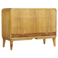1930's Art Deco elm shaped chest of drawers