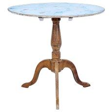 19th century painted Swedish tilt top table