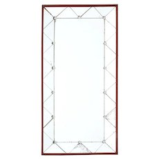 1950's Art Deco style shaped wall mirror