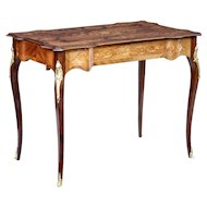 Early 20th century French walnut inlaid ladies desk