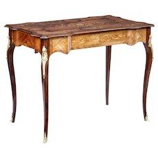 Early 20th century French walnut inlaid ladies desk