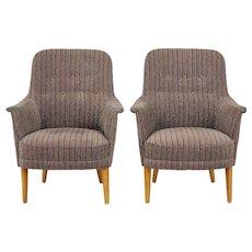 Pair of Carl Malmsten husmor armchairs O.H Sjogren