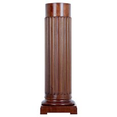 Late 19th Century mahogany Column pedestal