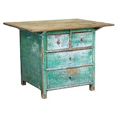 19th century Swedish painted oak and pine occasional table