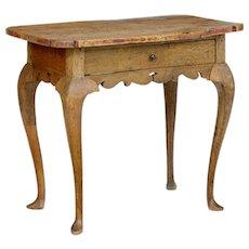 18th century Rococo elm side table