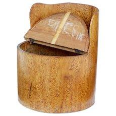 19th Century pine dug out chair