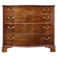 Mid 19th Century mahogany serpentine chest of drawers