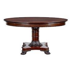 19th century Danish mahogany oval center table