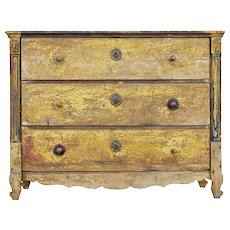 19th century Scandinavian painted pine chest of drawers