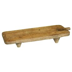19th Century solid pine chopping board with feet