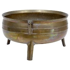 19th century Swedish bronze censer bowl pot