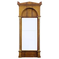 19th Century empire mahogany pier mirror