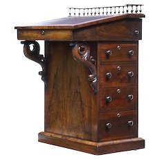 19th Century regency rosewood davenport desk