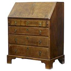 18th Century walnut bureau of small proportions