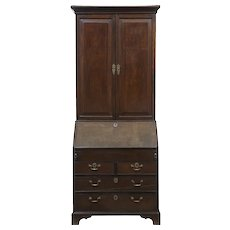18th century Georgian oak bureau bookcase