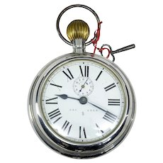 Early 20th century RSM german clock in the form of a pocket watch D.R.G.M