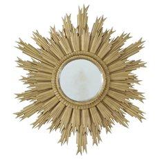 20th century late Art Deco sunburst mirror