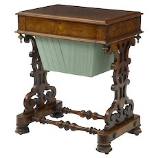 19th Century Walnut work occasional table