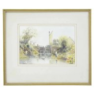 20th century landscape water colour by C W Morsley