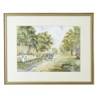 Large 20th century watercolour by S J Gleed