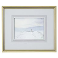 20th Century snow scene water colour by C W Morsley