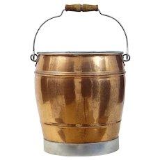 Arts and crafts Scandinavian copper bucket