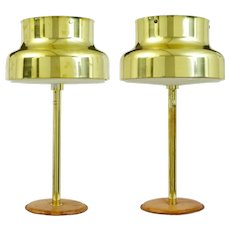 Pair of 1960's bumling brass table lamps by Anders Pehrson