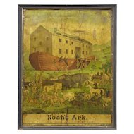 19th Century American book play advertising poster noahs ark