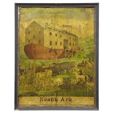 19th Century American book play advertising poster noahs ark