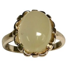 10 K Yellow Gold 3.00 Carat Jelly Opal Ring