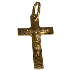 10 K Yellow Gold Jesus Crucifix ~ Religious