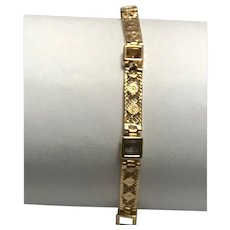 14 k Yellow Gold Multi Color Gemstone Bracelet