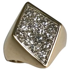 14 K Yellow Gold 1.00 CTW Diamond Modern Ring Comes With IGI Cert