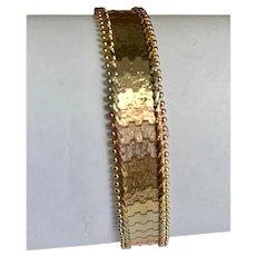 14 K Tri Gold Flexible Bracelet