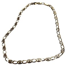 """14 K Yellow Gold Link 10"""" Anklet"""